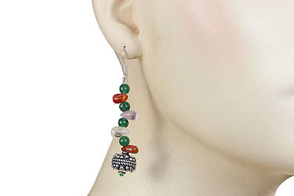 SKU 16191 unique Multi-stone Earrings Jewelry