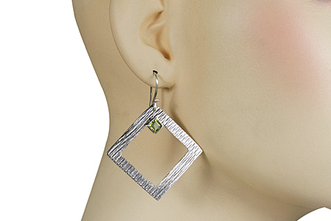 SKU 10695 unique Peridot earrings Jewelry