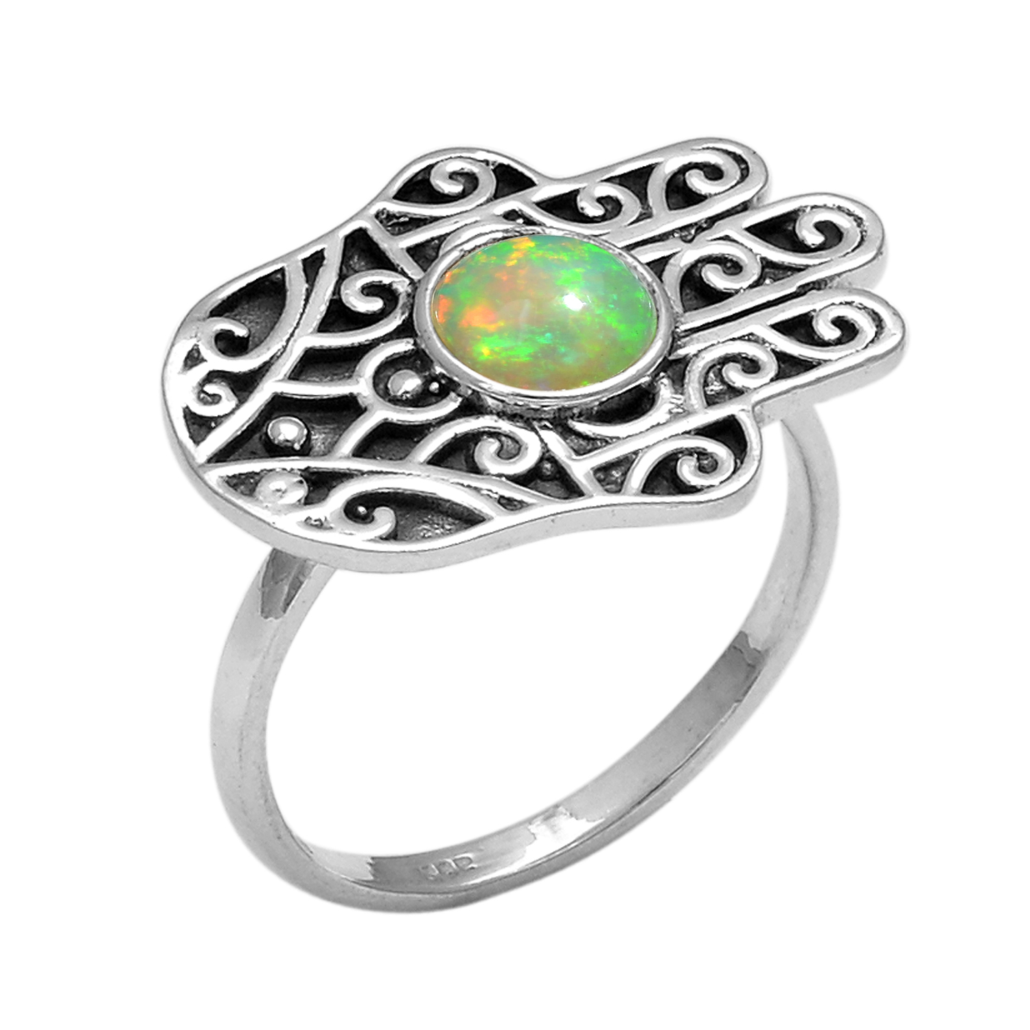 SKU 22128 unique Opal rings Jewelry