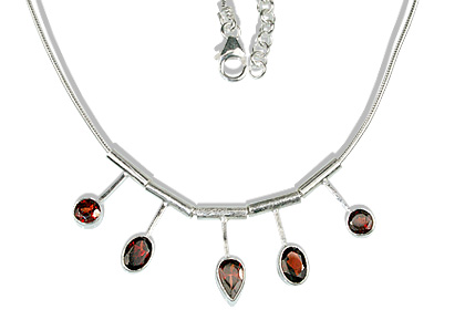 SKU 12675 - a Garnet necklaces Jewelry Design image