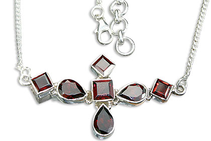 SKU 14468 - a Garnet Necklaces Jewelry Design image