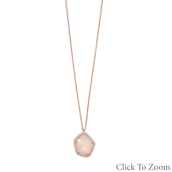 SKU 22030 - a Rose Quartz Necklaces Jewelry Design image