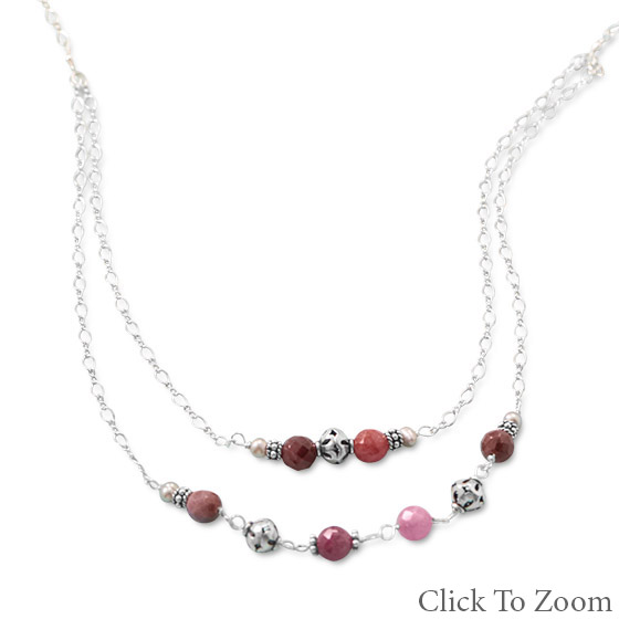 SKU 22041 - a Multi-stone Necklaces Jewelry Design image