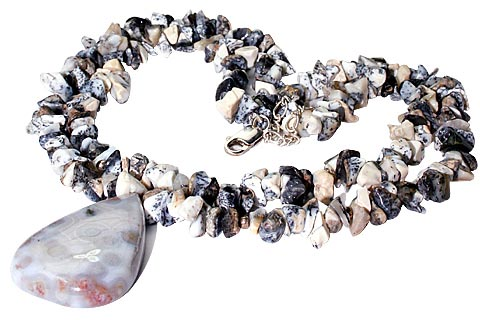 SKU 9966 - a Dendrite opal necklaces Jewelry Design image