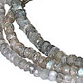 Design 10972: gray labradorite multistrand necklaces