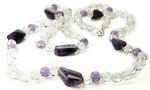 Design 21199: purple amethyst necklaces