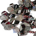 Design 9235: gray,red labradorite necklaces