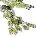Design 9508: green peridot contemporary necklaces