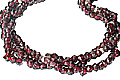 Design 9861: Maroon garnet contemporary, engagement, multistrand necklaces