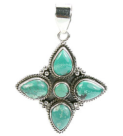 SKU 15626 - a Turquoise pendants Jewelry Design image