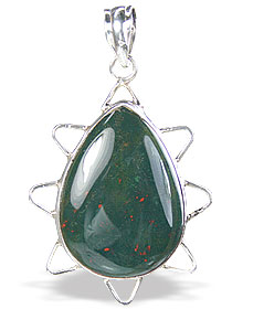 SKU 15687 - a Bloodstone pendants Jewelry Design image