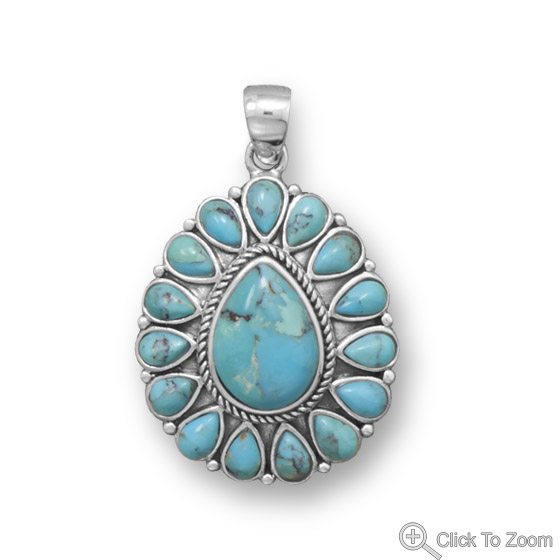 SKU 22060 - a Turquoise pendants Jewelry Design image