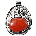 Design 12427: red carnelian american-southwest pendants