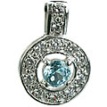 blue topaz pendants