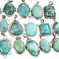Design 16126: blue,green bulk lots pendants