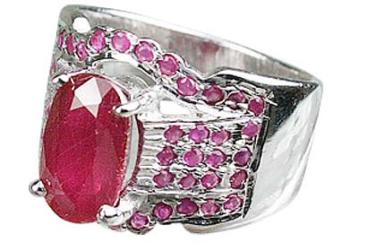 SKU 12432 - a Ruby rings Jewelry Design image