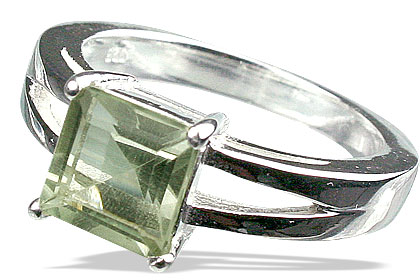 SKU 13096 - a Green Amethyst rings Jewelry Design image