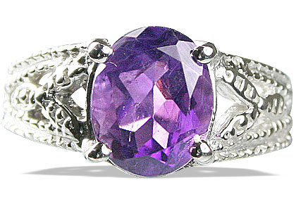 SKU 13703 - a Amethyst rings Jewelry Design image