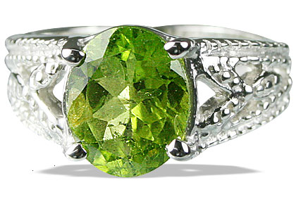 SKU 13707 - a Peridot rings Jewelry Design image