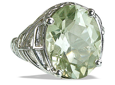 SKU 14208 - a Green Amethyst rings Jewelry Design image