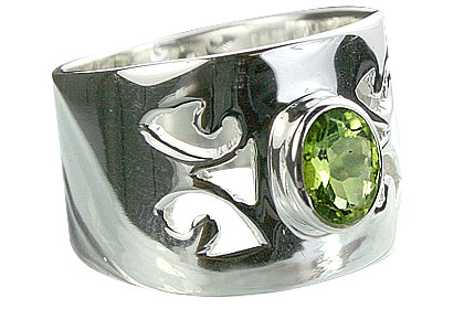SKU 14333 - a Peridot rings Jewelry Design image