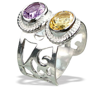 SKU 15152 - a Amethyst rings Jewelry Design image
