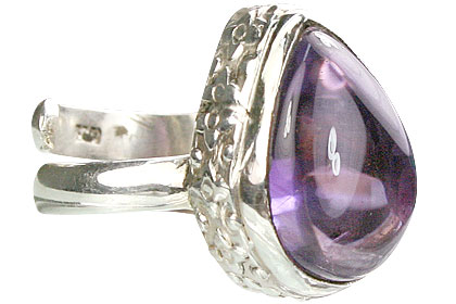 SKU 15511 - a Amethyst rings Jewelry Design image