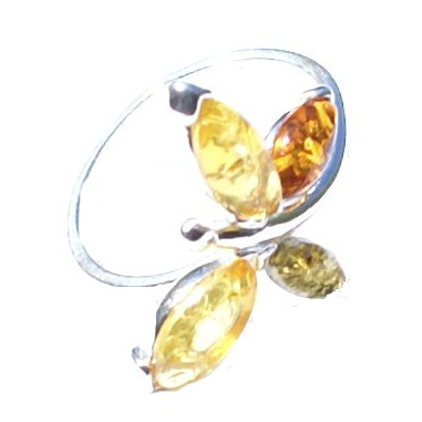 SKU 15796 - a Amber rings Jewelry Design image