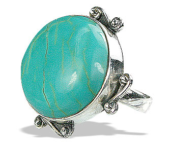 SKU 15937 - a Turquoise rings Jewelry Design image