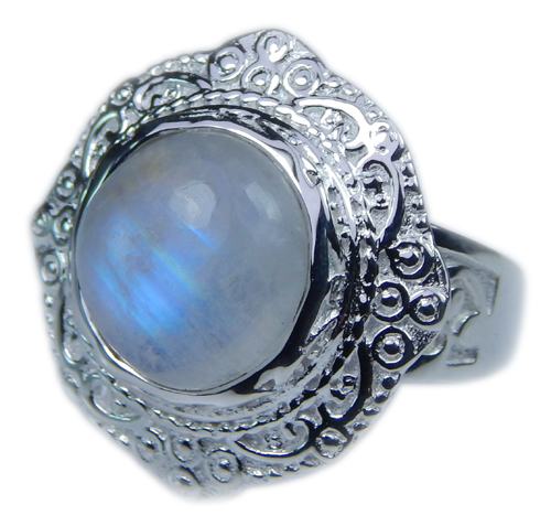 SKU 21649 - a Moonstone Rings Jewelry Design image