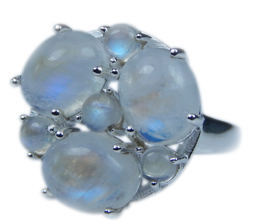 SKU 21650 - a Moonstone Rings Jewelry Design image