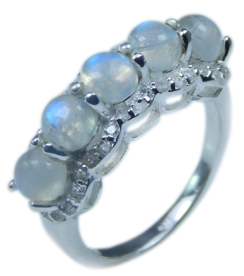 SKU 21703 - a Moonstone Rings Jewelry Design image