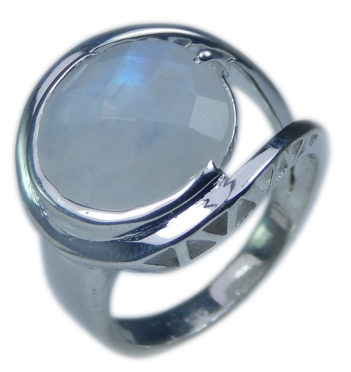 SKU 21709 - a Moonstone Rings Jewelry Design image