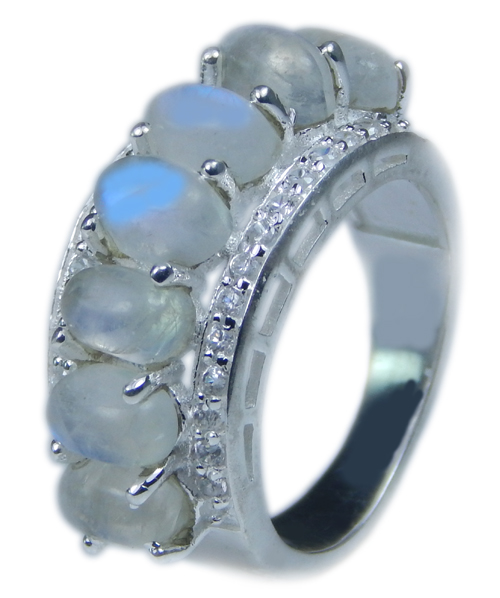 SKU 21713 - a Moonstone Rings Jewelry Design image