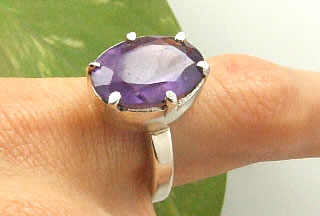 SKU 7231 - a Amethyst rings Jewelry Design image