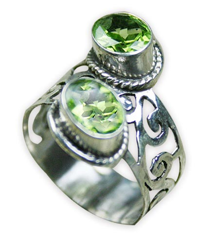 SKU 8281 - a Peridot rings Jewelry Design image