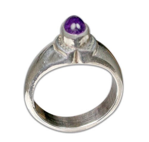 SKU 8739 - a Amethyst rings Jewelry Design image