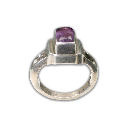 SKU 8748 - a Amethyst rings Jewelry Design image