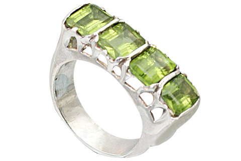 SKU 9519 - a Peridot rings Jewelry Design image