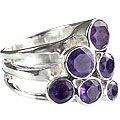 Design 14247: purple amethyst cocktail rings