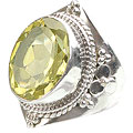 Design 15596: green peridot cocktail rings