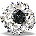 gemstone in silver