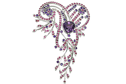 SKU 11076 - a Amethyst Brooches Jewelry Design image