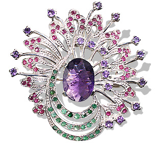 SKU 7506 - a Amethyst brooches Jewelry Design image
