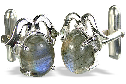 SKU 14780 - a Labradorite Cufflinks Jewelry Design image