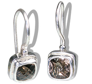 SKU 12177 - a Smoky Quartz earrings Jewelry Design image