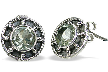 SKU 14774 - a Green amethyst Earrings Jewelry Design image