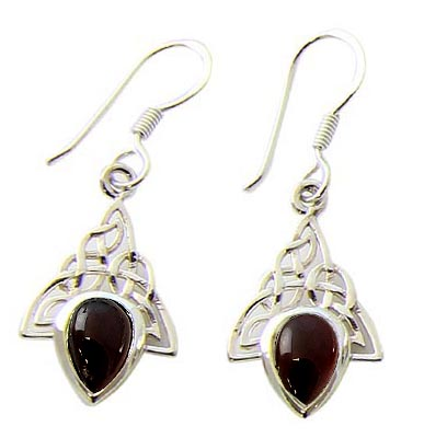 SKU 21093 - a Garnet Earrings Jewelry Design image