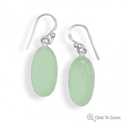 SKU 21730 - a Chalcedony earrings Jewelry Design image