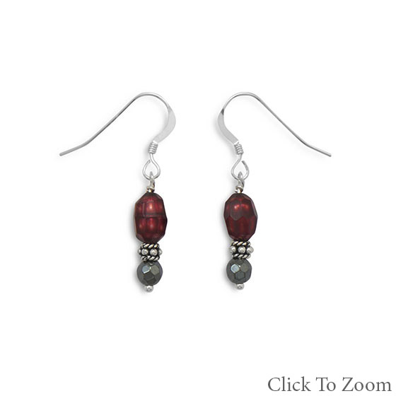SKU 21750 - a Multi-stone earrings Jewelry Design image